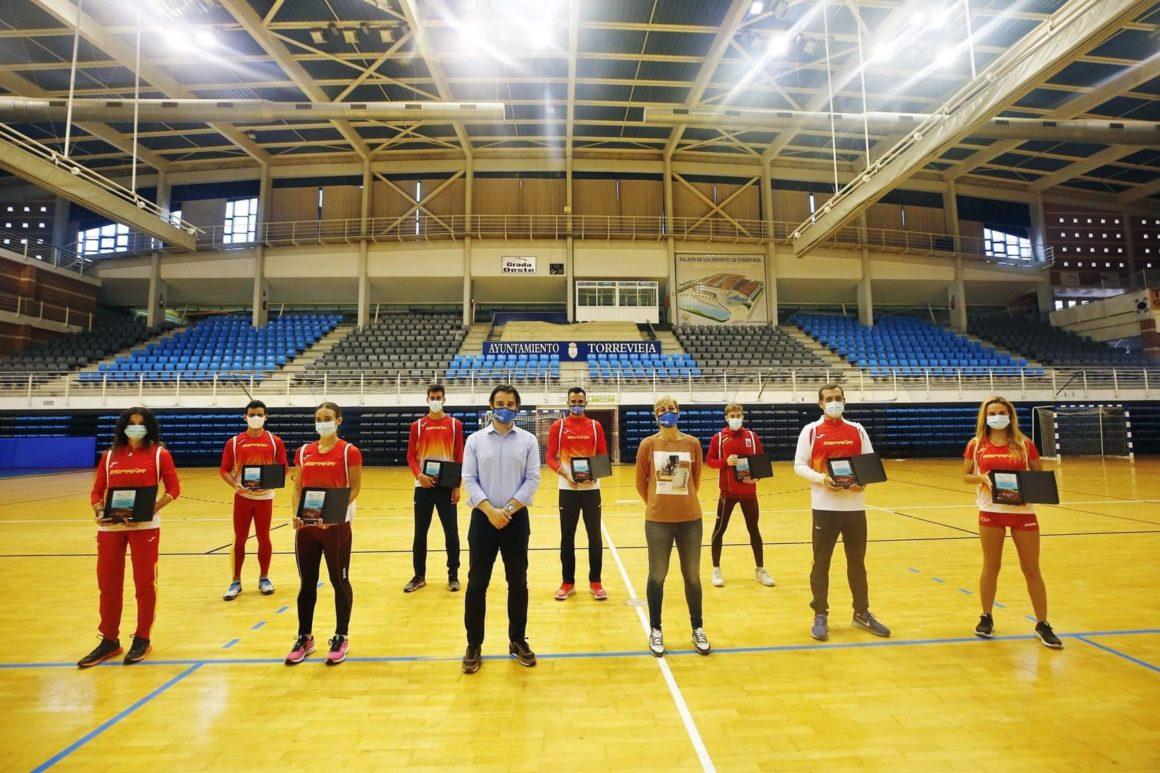 Componentes de la Selección Española de Marcha Atlética en Torrevieja!!