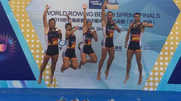 (Español) Mocho Ferrer subcampeón del mundo de remo