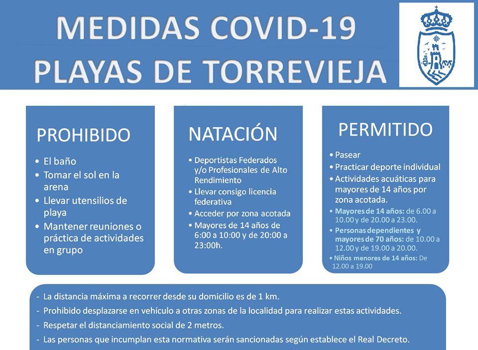 (Español) TORREVIEJA ABRE MAÑANA SUS PLAYAS PARA PASEAR, PRACTICAR DEPORTE INDIVIDUAL Y DESARROLLAR ACTIVIDADES ACUÁTICAS
