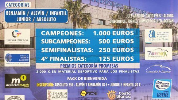 Del 1 al 9 de agosto se celebrará el 42º Torneo de Tenis «Ciudad de Torrevieja», con la participación de más de 300 tenistas.