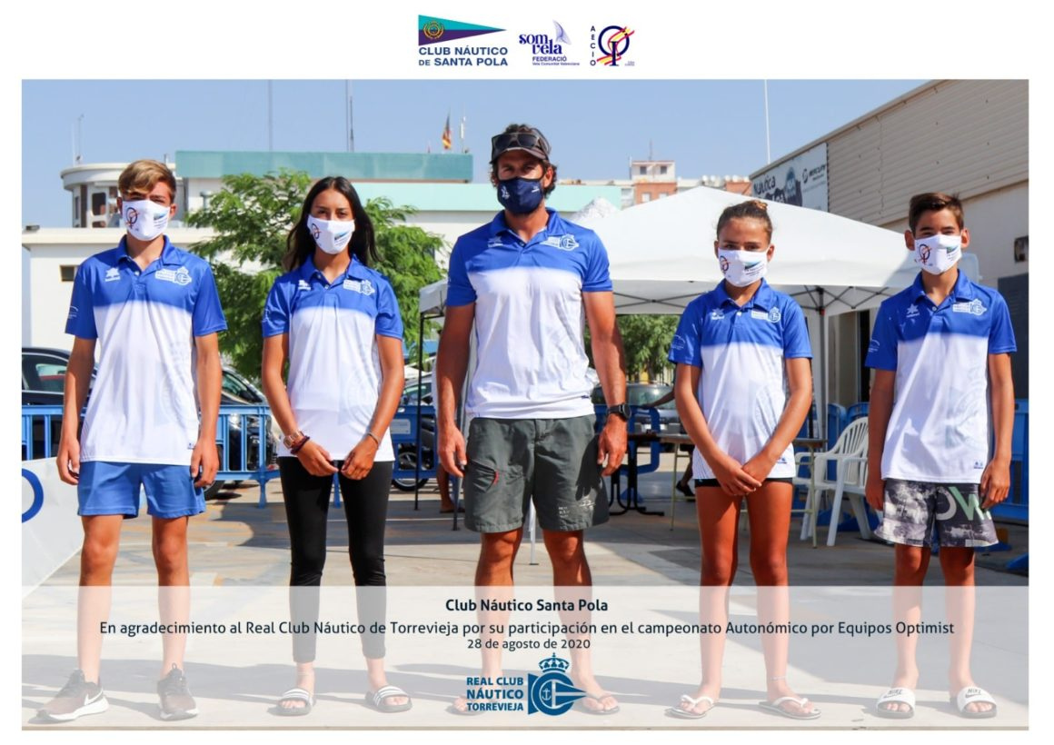 El RCN de Torrevieja se cuelga el bronce el Autonómico de Optimist por Equipos