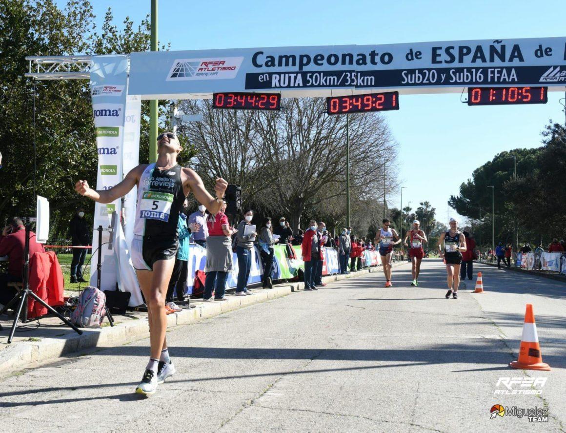 🏃♂️Luis Manuel Corchete Subcampeón de España 50km Marcha🥈 y MÍNIMA OLÍMPICA ⏱ 3h49.19