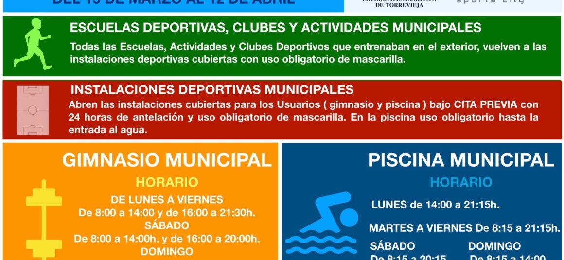 📣 Información sobre las nuevas medidas a tomar por la Concejalía de Deportes ante la nueva normativa decretada por la Consellería de Salud de la Comunidad Valenciana en el ámbito deportivo. 📔‼️