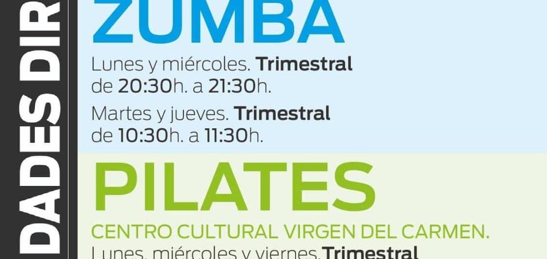 (Español) 📣Nuevas inscripciones para las ACTIVIDADES DIRIGIDAS en la Concejalía de Deportes!!🏃♂️💃