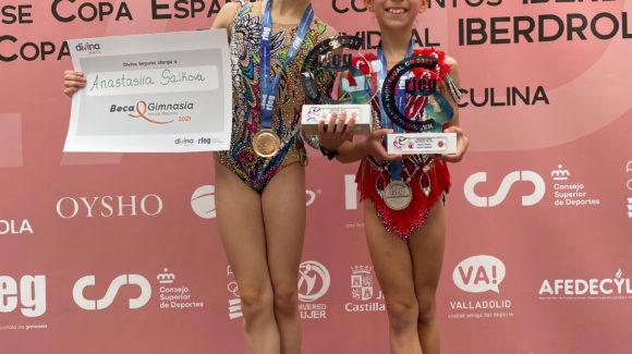 (Español) 🙌🏻Las gimnastas pertenecientes al Club Jennifer Colino de Torrevieja, Anastasia Salkova y Valeria Zubcoff, se colgaron la medalla de oro y plata respectivamente, durante la jornada del pasado sábado en el Campeonato de España Base Individual celebrado en la ciudad de Valladolid.