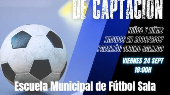 (Español) Jornada de Captación de la Escuela Municipal de Fútbol Sala