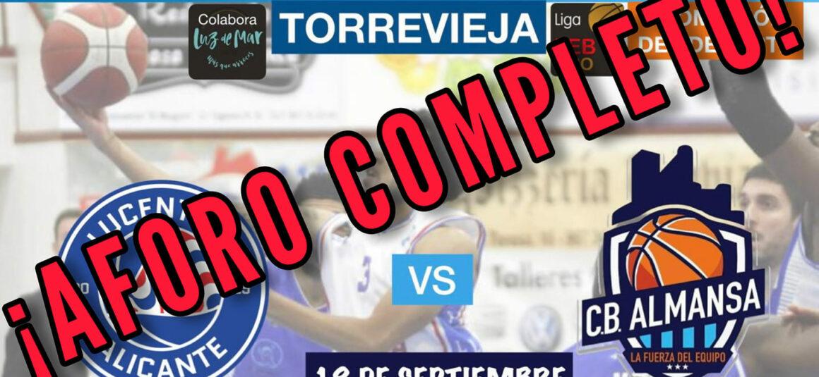 (Español) Aforo completo para el partido amistoso entre el HLA Alicante y el Afanion CB Almansa