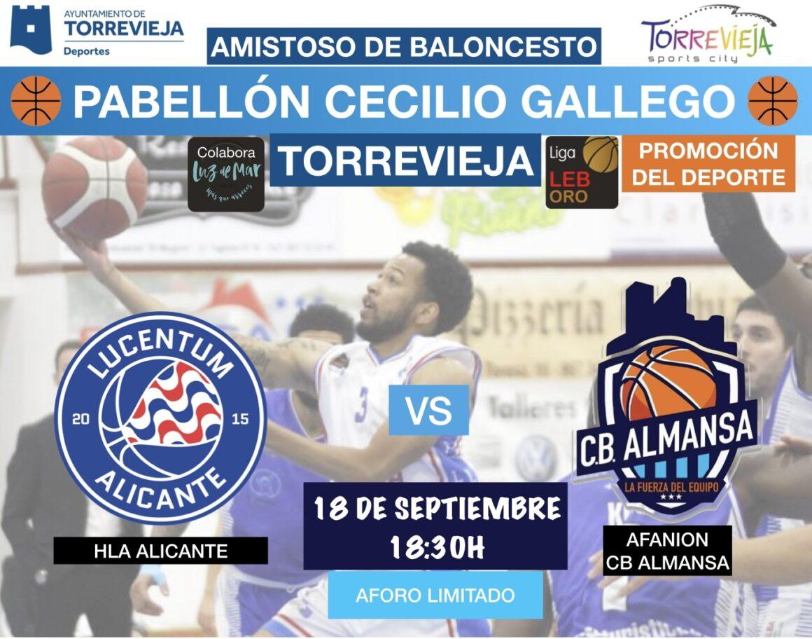 (Español) Liga LEB ORO en el Cecilio Gallego: ⛹🏿♀️HLA Alicante y ⛹️Afanion CB Almansa