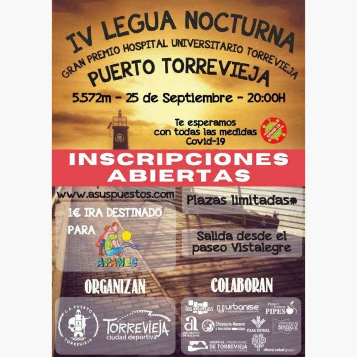 (Español) El próximo 25 de septiembre se correrá la IV Edición de la Legua Nocturna Solidaria